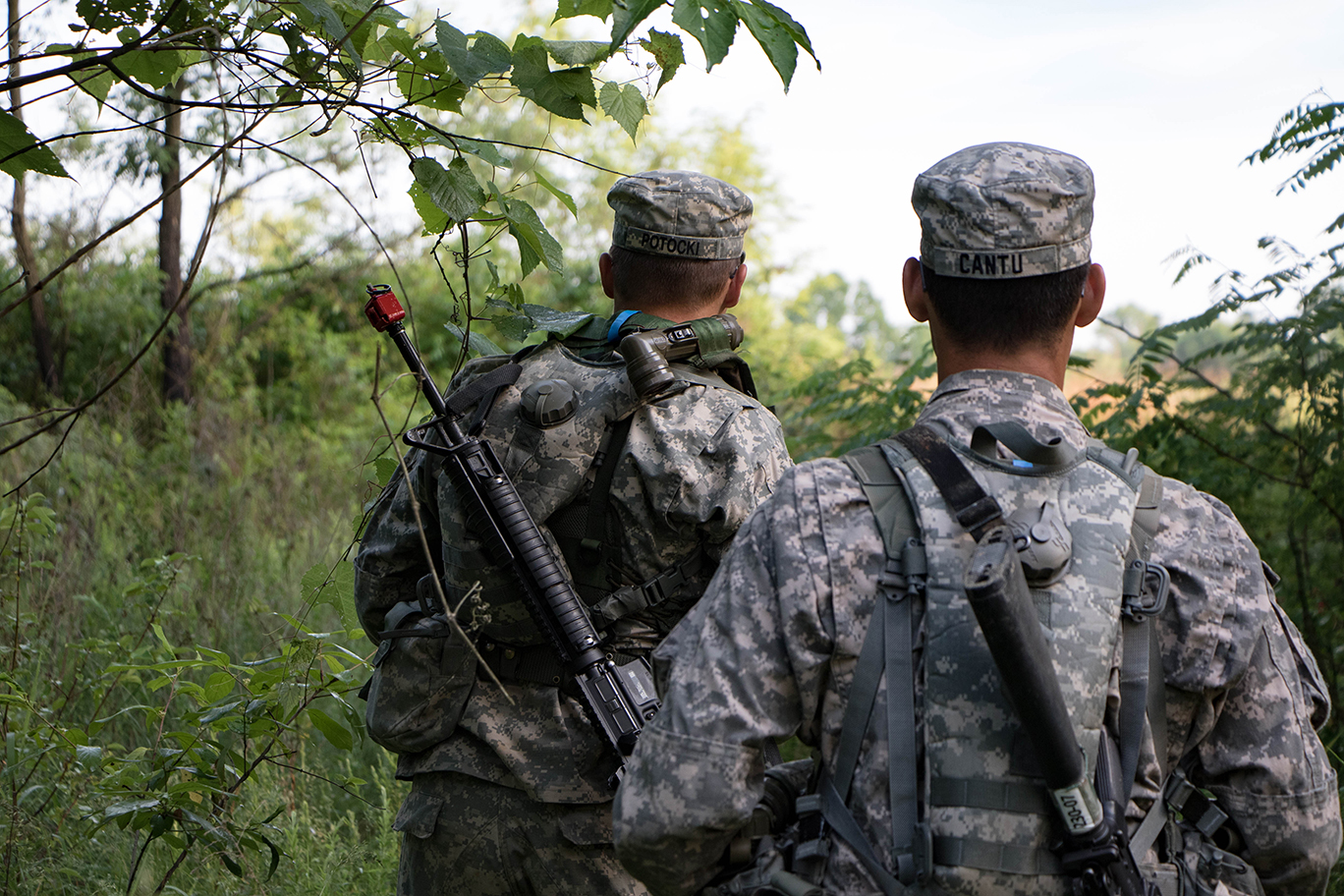 Cadets navigate from point-to-point