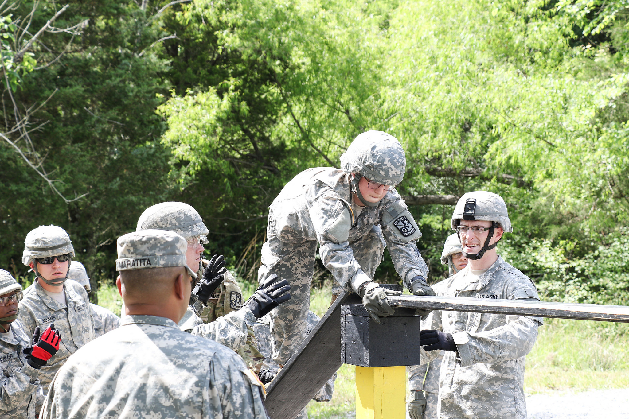 Advanced Camp Cadets hone communication skills at reaction courses