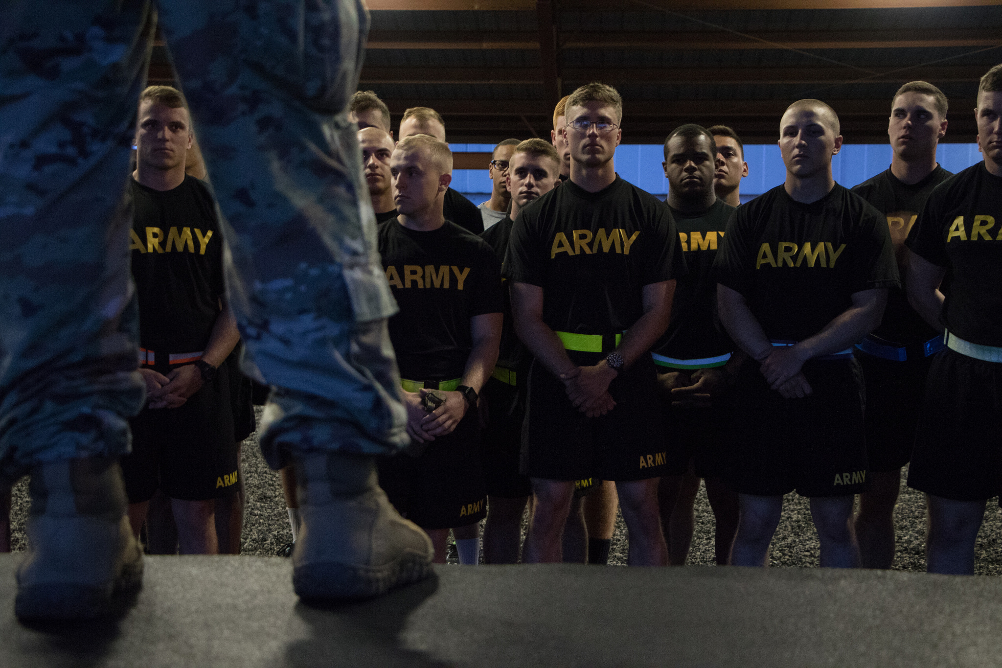 Ranger candidates perform mock physical fitness test