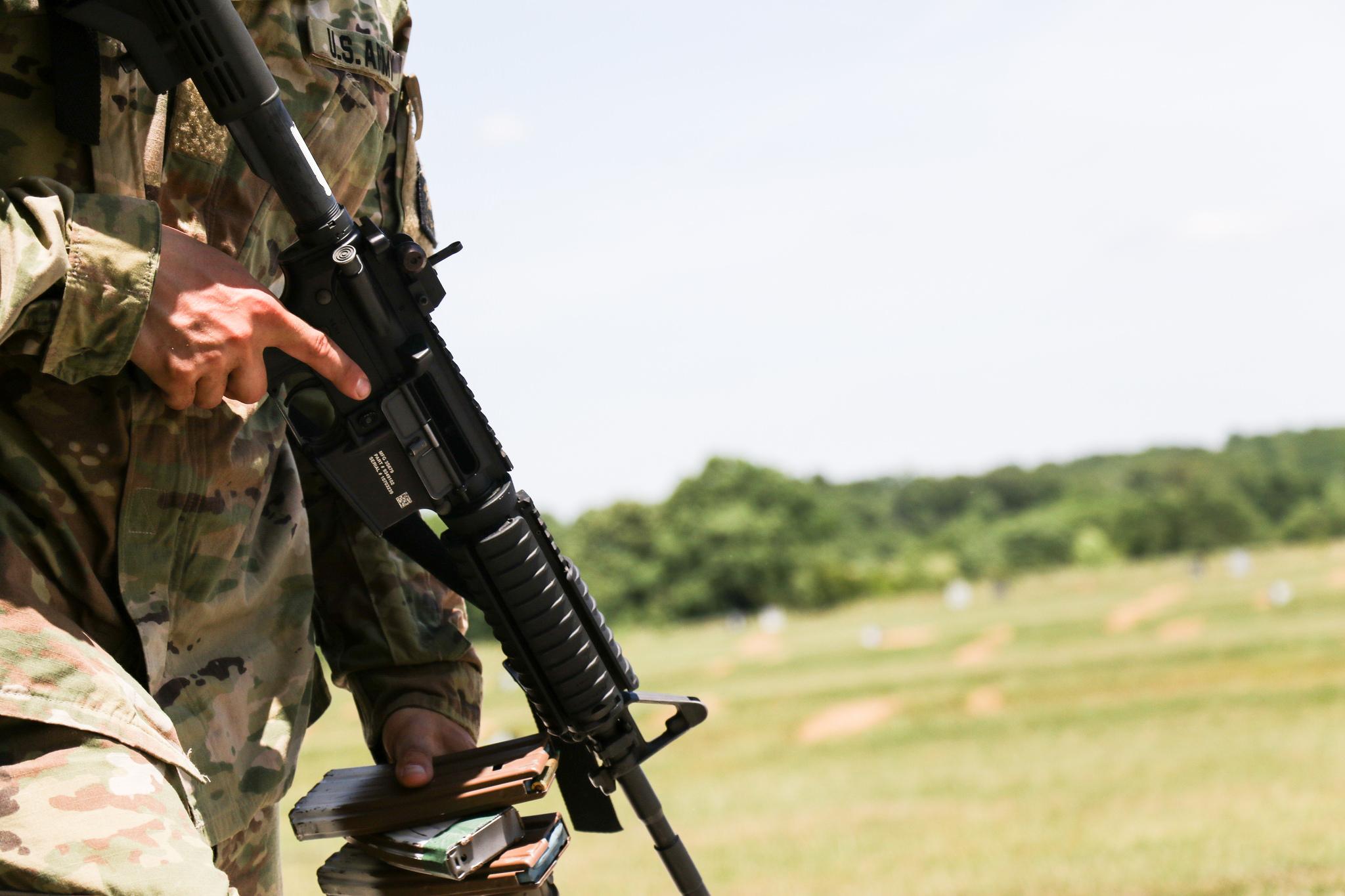 Advanced Camp Cadets qualify at George Blair range