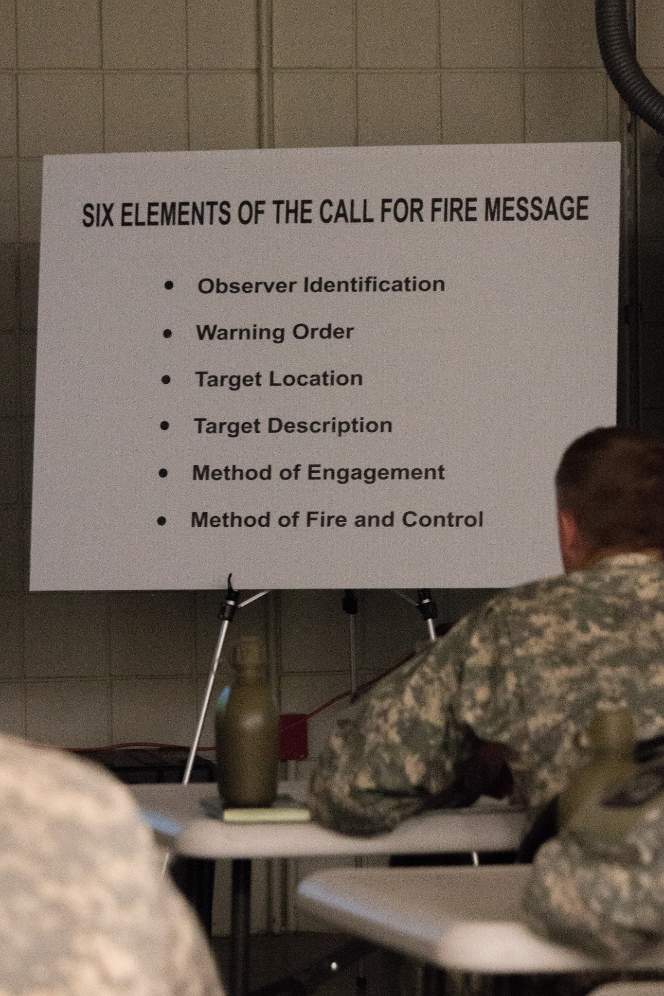 Cadets Complete Call for Fire Training
