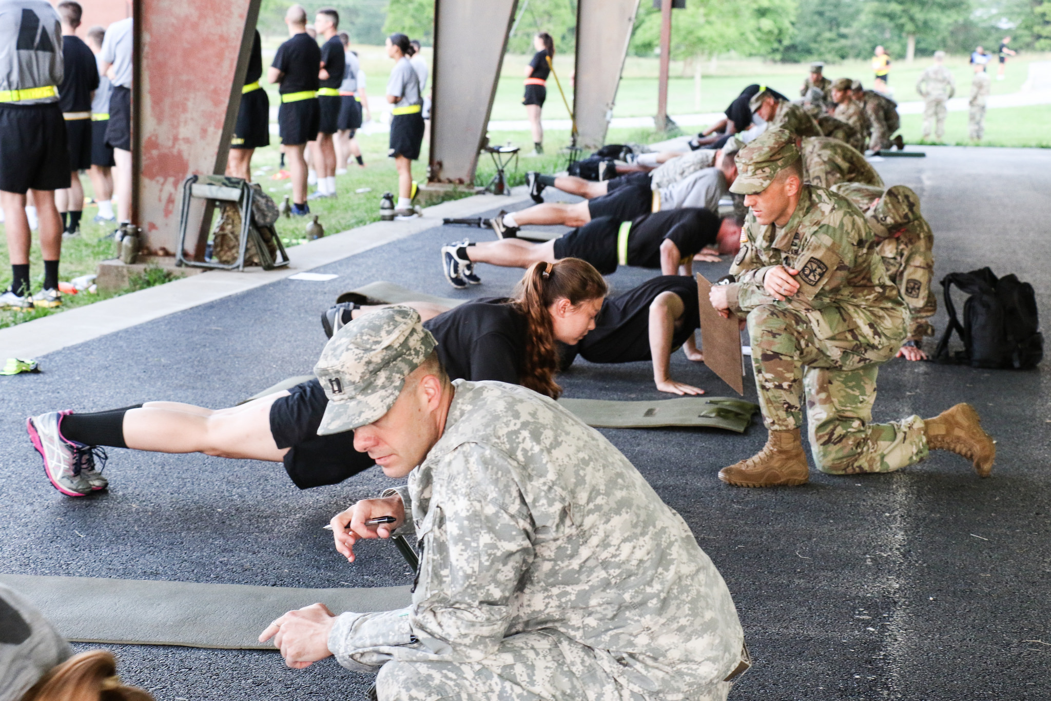 Advanced Camp Cadets tackle Army Physical Fitness Test