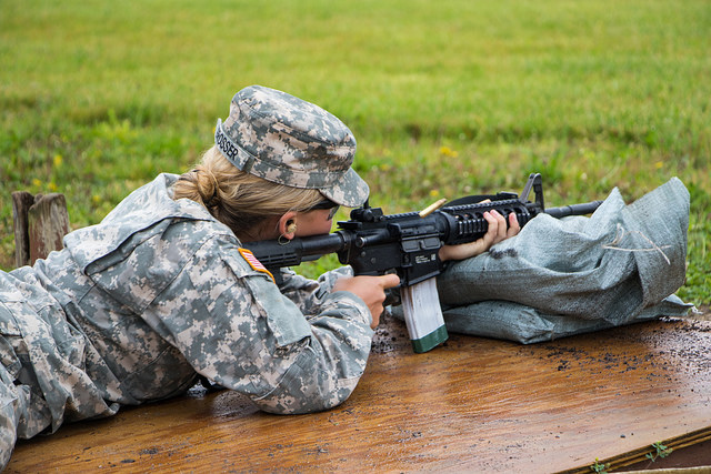 Practice makes perfect; Cadets practice marksmanship with rifles