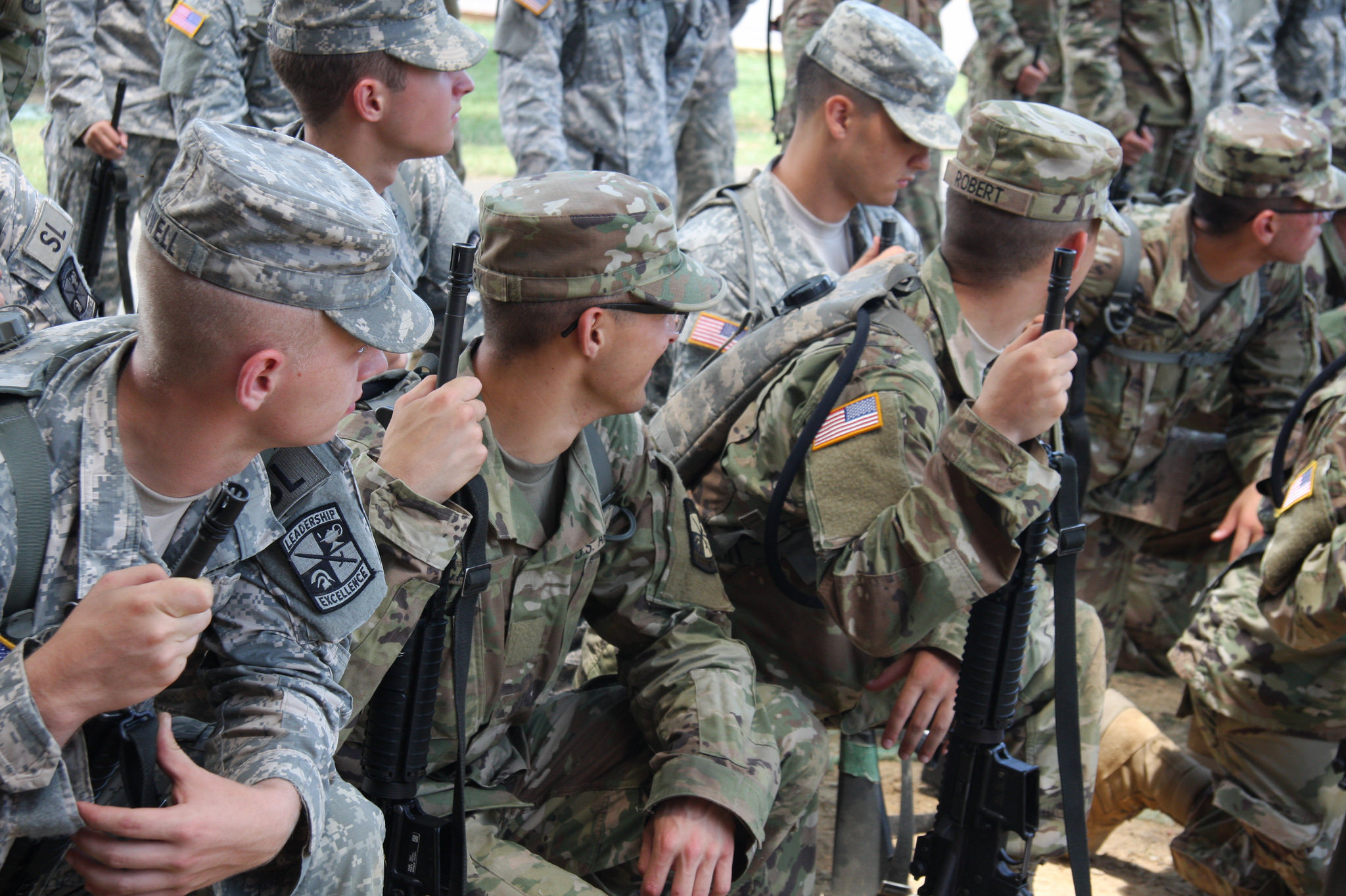 Basic Camp Cadets receive weapons