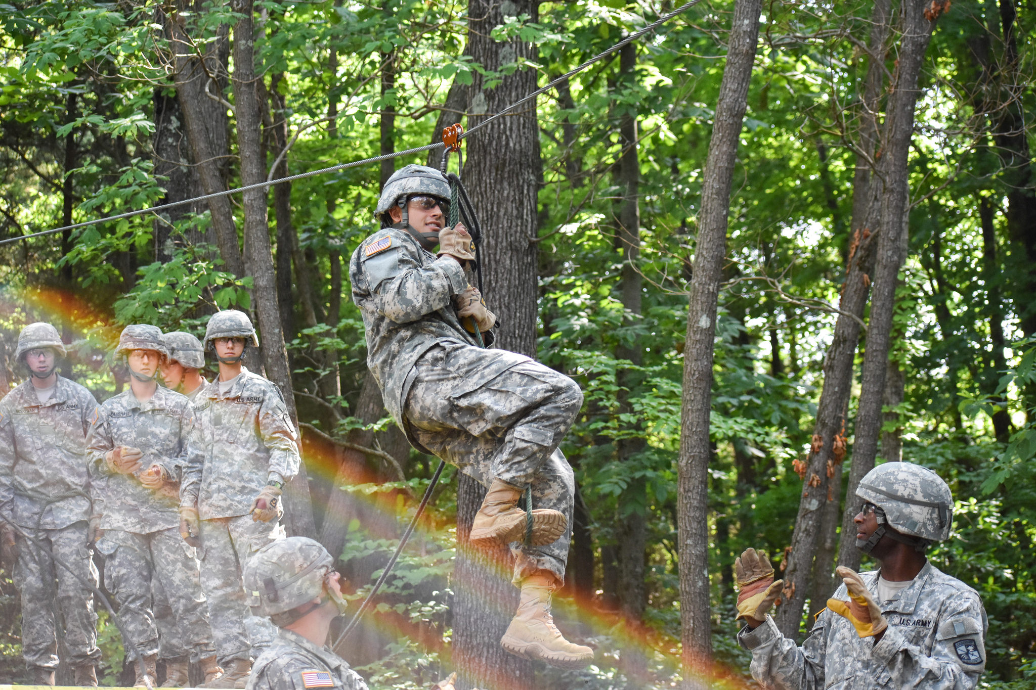 Cadets zip down the line to leadership