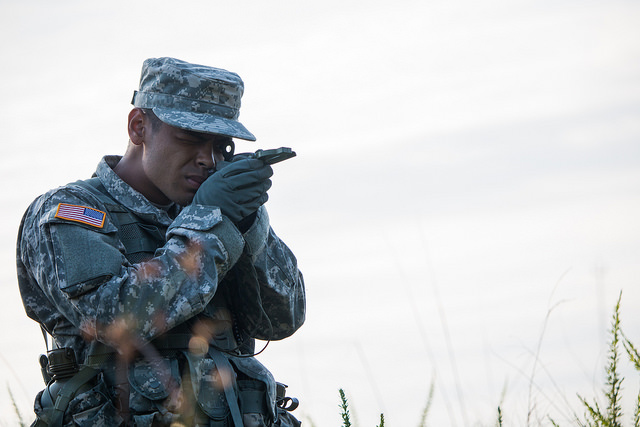 NCOs help Cadets in land navigation and future Army careers