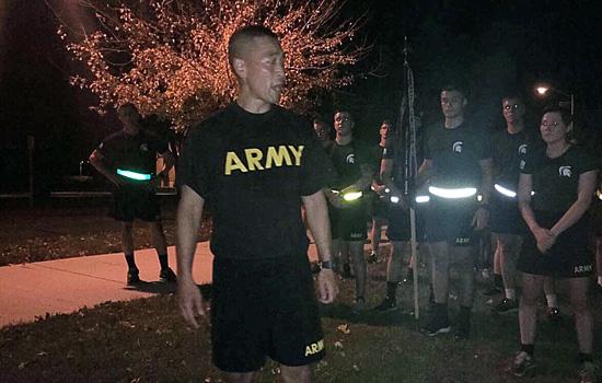 COL. Lance Oskey visits MSU Army ROTC Cadets