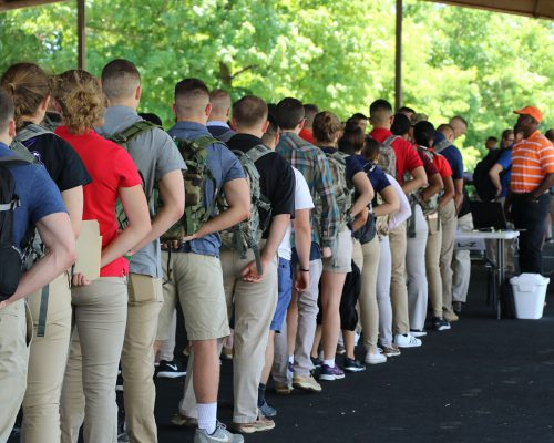 Arrival of First Regiment Cadets for Advanced Camp Training