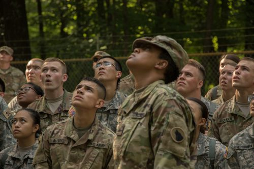 1st Regiment, Advanced Camp Tackles Confidence Course and Rappel Tower
