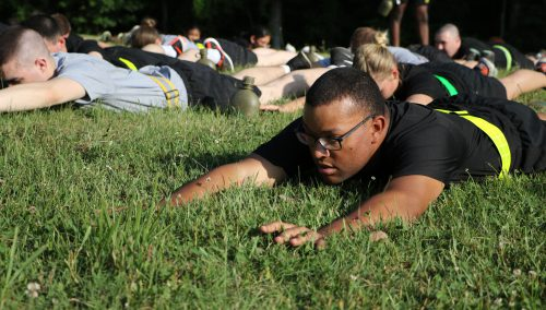 You gotta crawl before you can walk: Cadets get their first taste of Military Life