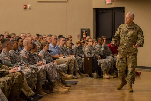 4th Regiment Basic Camp Cadets Receive Their Welcome Brief