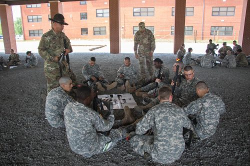 1st Regiment Basic Camp Takes on Weapons Assessment and Drill and Ceremony