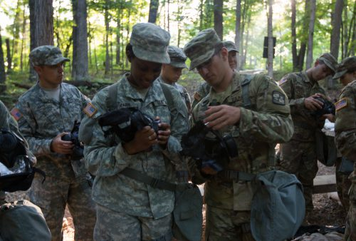 Cadets participate in the last CBRN training of the summer