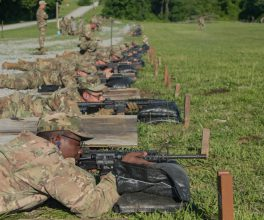 Cadets line down the lane to take aim and fire