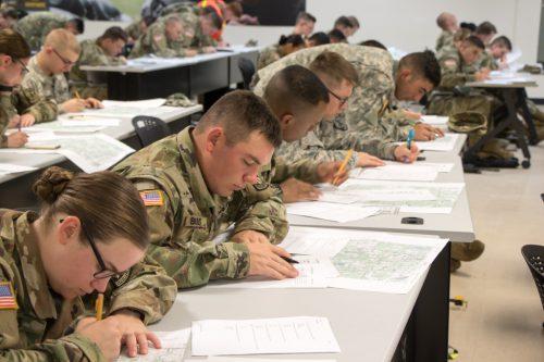 Cadets Navigate Their Way Through This Exam