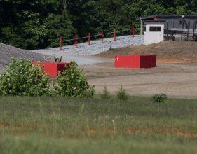 Cadet throws grenade.