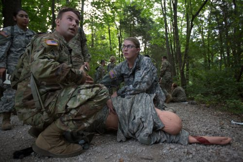 Basic Camp Cadets Receive Medical Training