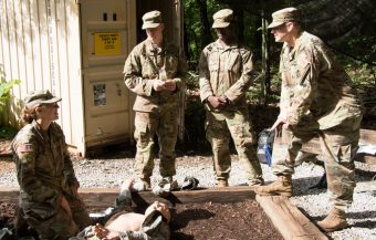 Cadets worked together to learn and help each other.