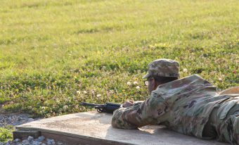 A Cadet awaits instruction.
