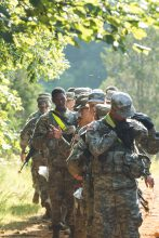 Cadets practice their land navigation skills.