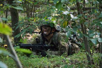 A Cadet pulls security.