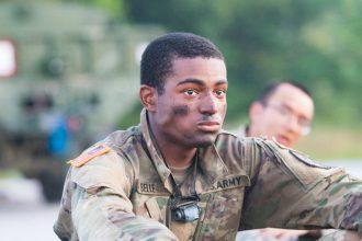 A Cadet relaxes.