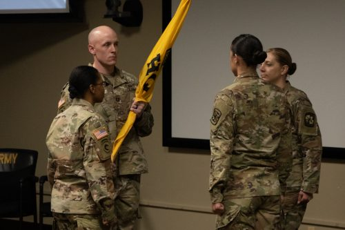 Passing the Torch: HHD USACC Change of Command Ceremony