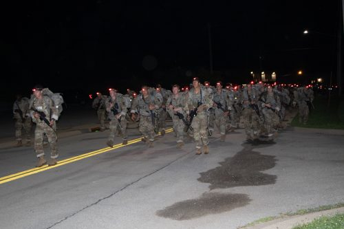 """""""Slow and Steady…"""": 6-mile Ruck March, 2nd regiment"""